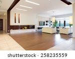 interior of modern area in... | Shutterstock . vector #258235559
