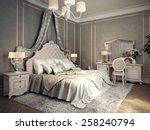 Classic Bedroom Interior. 3d...