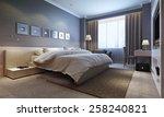 bedroom interior  modern style. ... | Shutterstock . vector #258240821