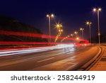 traffic in city on bridge | Shutterstock . vector #258244919