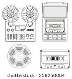 Retro Audio Set  Retro Cassett...