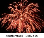 a red burst of fireworks | Shutterstock . vector #2582515