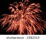 a red burst of fireworks | Shutterstock . vector #2582515
