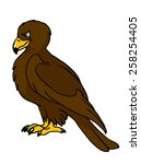 eagle illustration. | Shutterstock .eps vector #258254405
