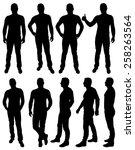 vector illustration of male... | Shutterstock .eps vector #258263564