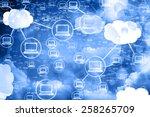 cloud computing network  ... | Shutterstock . vector #258265709
