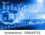 stock market chart   financial...   Shutterstock . vector #258265721