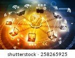 global computer network   | Shutterstock . vector #258265925