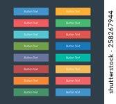 flat web buttons set in various ... | Shutterstock .eps vector #258267944