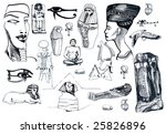 egyptian sketches collection | Shutterstock . vector #25826896