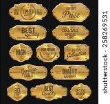metal plates premium quality... | Shutterstock .eps vector #258269531