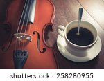 vintage filtered coffee cup... | Shutterstock . vector #258280955