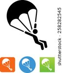 parachute   skydiver icon | Shutterstock .eps vector #258282545