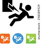 person being injured by... | Shutterstock .eps vector #258289529