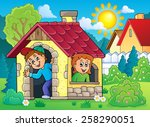 Children Playing In Small Hous...
