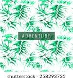 exotic background. watercolor... | Shutterstock .eps vector #258293735
