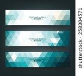 abstract geometric  triangular... | Shutterstock .eps vector #258304571
