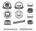 burgers | Shutterstock .eps vector #258306104