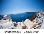 greece santorini island... | Shutterstock . vector #258313904