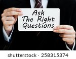 ask the right questions concept | Shutterstock . vector #258315374