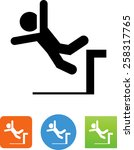 person falling off a loading... | Shutterstock .eps vector #258317765