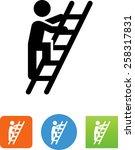 person climbing a ladder icon | Shutterstock .eps vector #258317831