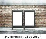 two blank billboard on street | Shutterstock . vector #258318539