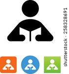 person reading a book icon | Shutterstock .eps vector #258328691