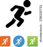 sprinter icon | Shutterstock .eps vector #258330731