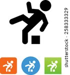 person tripping over an... | Shutterstock .eps vector #258333329