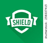shield graphic with banner and... | Shutterstock .eps vector #258337415