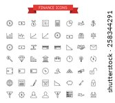finance icons | Shutterstock .eps vector #258344291