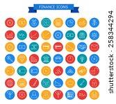finance icons | Shutterstock .eps vector #258344294