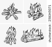 bonfire | Shutterstock .eps vector #258345071