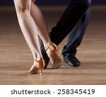 closeup of ballroom dancers... | Shutterstock . vector #258345419
