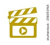 film maker clapper board  icon. ... | Shutterstock .eps vector #258351965