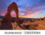 Beautiful Sunset Image taken at Arches National Park in Utah