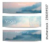 yoga vector banner....   Shutterstock .eps vector #258359537