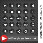 black plastic  player... | Shutterstock . vector #258363971