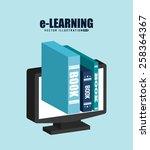 e learning design  vector...   Shutterstock .eps vector #258364367