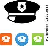 policeman's hat icon | Shutterstock .eps vector #258368555