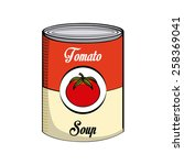 tomato soup design  vector...   Shutterstock .eps vector #258369041