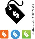price tag symbol for download.... | Shutterstock .eps vector #258372539