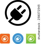 plug   power cord icon | Shutterstock .eps vector #258372545
