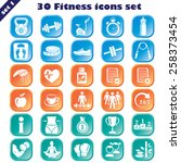 fitness icons set  vector set...   Shutterstock .eps vector #258373454
