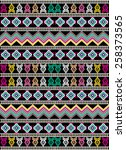 tribal ethnic pattern with... | Shutterstock .eps vector #258373565