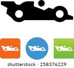 race car icon | Shutterstock .eps vector #258376229