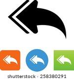 reply arrow icon   Shutterstock .eps vector #258380291