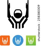 referee   touchdown icon | Shutterstock .eps vector #258380309