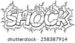 a cartoon illustration of the... | Shutterstock .eps vector #258387914